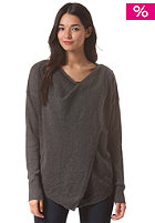 BENCH Womens Wrapova Knit Sweat anthracite marl