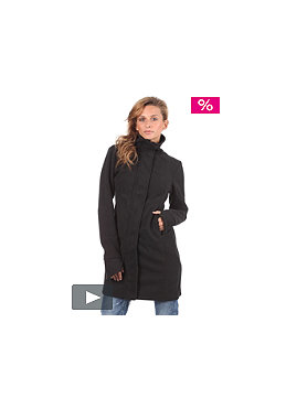 BENCH Womens X-Long Slim Core Jacket black/charcoal