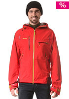 BERGANS Storen Snowboard Jacket bright red/ dark maroon/ yellowgreen