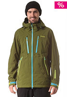 BERGANS Trolltind Snowboard Jacket green tea/ bright sea blue/ citrus