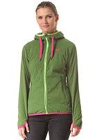 BERGANS Womens Cecilie Fleece Jacket deep forest green/ bubblegum