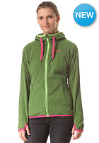 BERGANS Womens Cecilie Fleece Jacket deep forest green/ bubblegum