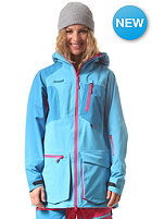 BERGANS Womens Hodlekve Jacket bright sea blue/ hot pink