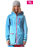 BERGANS Womens Hodlekve Jacket bright sea blue/ hot pink