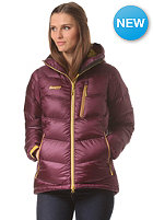 BERGANS Womens Memurutind Down Jacket plum/ yellowgreen