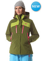 BERGANS Womens Oppdal Insulated Jacket green tee/ lime hot pink