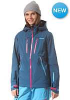 BERGANS Womens Trolltind Jacket deep sea/ hot pink/ bright sea blue