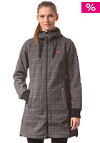 BERGANS Womens Vika Checked black/solid dark grey checked