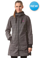 BERGANS Womens Vika Checked Coat black/solid dark grey checked