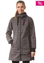 BERGANS Womens Vika Checked Coat black/solid dark grey checked