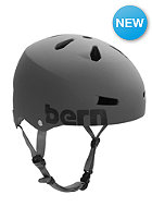 BERN Macon Helmet matte grey distressed Logo