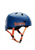 BERN Macon Helmet matte navy blue distressed logo