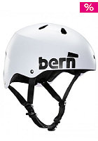 BERN Macon Helmet satin white distressed logo