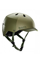 BERN Watts Helmet matte fatique green hatstyle