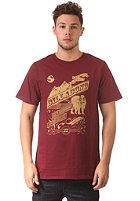 BILLABONG Chalk S/S T-Shirt black cherry