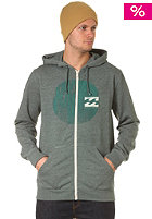Hightide Hooded Zip Sweat forest