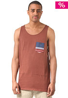 BILLABONG Transmit Singlet S/S T-Shirt burgundy