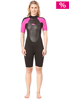 BILLABONG Womens 2x2 launch ss spring black/hotpink