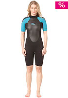 BILLABONG Womens 2x2 launch ss spring blk/turquoise