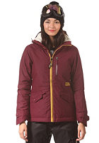 BILLABONG Womens Alpha Snow Jacket black cherry