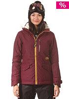 BILLABONG Womens Alpha Snow Jacket black cherry
