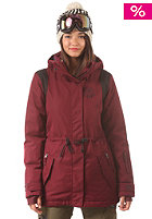 BILLABONG Womens Anderson Snow Jacket black cherry