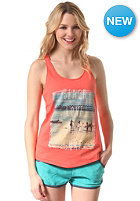 BILLABONG Womens Beach & Love Tank Top hot coral