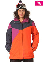 BILLABONG Womens Flake Print/Block Snow Jacket tango red