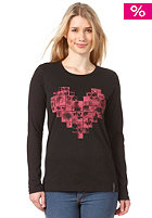 BILLABONG Womens Heart L/S T-Shirt black