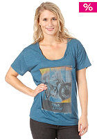 BILLABONG Womens High Livin S/S T-Shirt denim blue