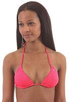 BILLABONG Womens Leia Slide Triangle Bikini Top red hot dots