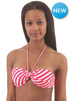 BILLABONG Womens Leia Twist Bandeau Bikini Top red hot stripes
