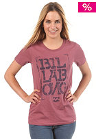 BILLABONG Womens Reminder S/S T-Shirt deep berry