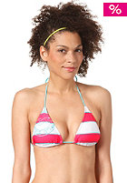 BILLABONG Womens Stripy Triangle Bikini Top hibiscus