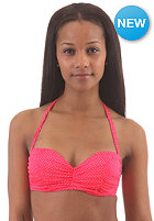 BILLABONG Womens Surfside Bustier Bikini Top red hot dots