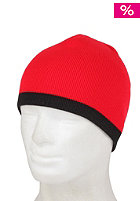BLANK Basic Beanie Low-Stripe red/black
