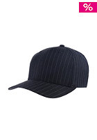 BLANK Fitted Flat Pinestripe Cap black/red