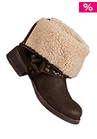 BLOWFISH Kenessa FURR Biker Bootie dark brown fawn PU