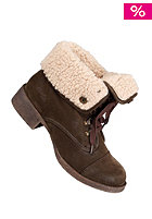 BLOWFISH Knick/ Karona FURR Lace Bootie dark brown fawn PU