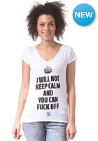 BOOM BAP Womens Keep1 S/S T-Shirt white