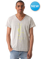 BOOM BAP Yls V-Neck Laser Cut S/S T-Shirt mixed grey