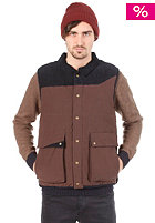 BOXFRESH Bolandus Down Filled Gilet Jacket dk brown
