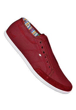 BOXFRESH Sparko Slip On Waxed Canvas cordovan red