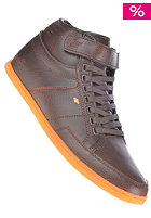 BOXFRESH Swich CS Leather dark brown/zest
