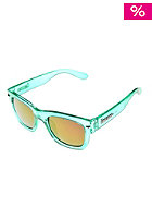 BRIGADA Big Shot Sunglasses electric clear mint/pink mirror lens