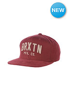 BRIXTON Arden 2 Snapback Cap burgundy