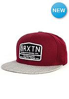 BRIXTON Axle Snapback Cap burgundy/light heather grey