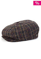BRIXTON Brood Cap heather grey/gold plaid
