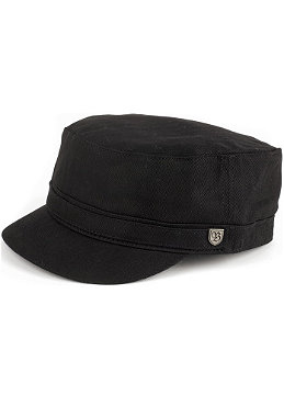 BRIXTON Busker Cap black herrinbone twill