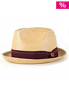 BRIXTON Castor Hat black straw/brown band